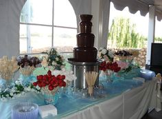 Chocolate Fountain, love the set up