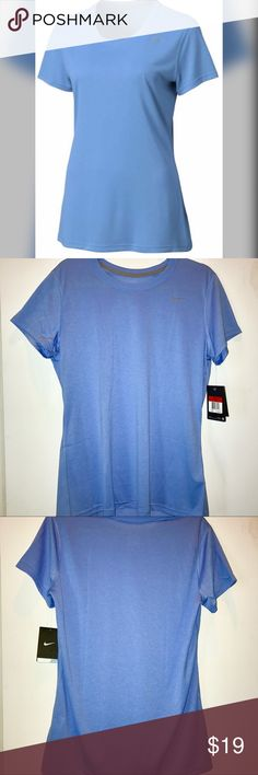 Nike Pro Dri Fit Training Legend T Shirt Blue L Brand new with tags. Size Large. Light blue. Jersey type material. $25 retail. 10% off bundle discount. I just started selling on posh so follow me for TONS more to come! Everything I sell is brand new, reputable brands. Great customer service is my priority! Thanks for looking! Make a reasonable offer or ask any questions! XOXO - G Nike Tops Tees - Short Sleeve