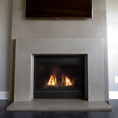 This is a concrete fireplace surround for wood burning or gas fireplaces. It can be used for commercial and residential applications.