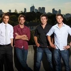 The Braxton Brothers - Nic Westaway (Kyle), Dan Ewing (Heath), Steve Peacocke (Brax) & Lincoln Younes (Casey) - Home and Away