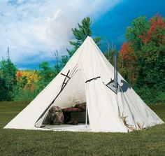Cabelau0027s Outfitter Range A-Frame Tent by Montana Canvas & NEW VINYL GENERAL PURPOSE LARGE TENT (GP LARGE 18â X 52â ...