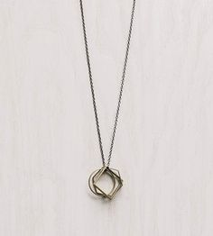 Brass Geometric Shapes Pendant Necklace