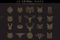 20 Animal Icons by karnoff on Creative Market