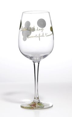 A28234 Style & Gracie Beautiful Times Wine Glass- Beautiful Times Wine Glass a perfect gift for anyone who is celebrating a special occasion #Enesco #Beauty #Gift