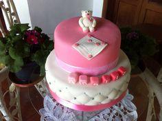 Christening girl cake Torta de bautizo niña