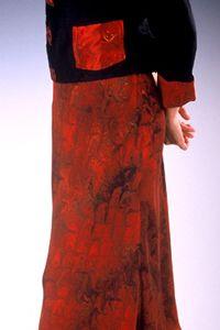Marbled Silk Bias Skirt