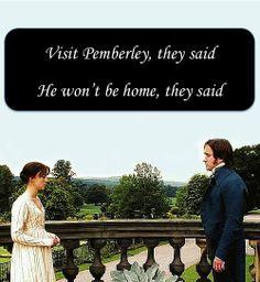 Visit Pemberley - Pride and Prejudice; Elizabeth (Keira Knightley) & Mr. Darcy (Matthew Macfadyen)