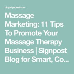 A massage therapy business plan sample and template massage massage marketing 11 tips to promote your massage therapy business signpost blog for smart flashek Choice Image