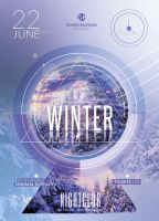Winter Minimal Intensity / Flyer Psd Template by RomeCreation on DeviantArt Hipster Party, Club Poster, Psd Flyer Templates, Party Flyer, Minimalism, Banner, Deviantart, Banner Stands, Banners