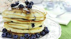 Hotcakes de mora azul