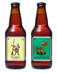 The labels for Costa Mesa, CA's Barley Forge Brewing Co. were inspired by the Mexican card game Loteria and designed by brewery co-founder Dave Stolte. Jar Packaging, Beverage Packaging, Brand Packaging, Brewing Co, Home Brewing, Craft Beer Labels, Beers Of The World, Beer Art, More Beer