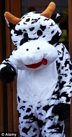 Udderly ridiculous: Man dressed as a COW crawls into Walmart and steals 96 gallons of milk Cow Appreciation Day, Cow Outfits, Only In America, Outfit Of The Day, Men Dress, Walmart, Snoopy, Wedding, Tecnologia