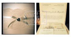 Invitaciones de boda con encaje