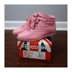 Vintage+Bubblegum+Pink+Reebok+Hi+Tops+1988.+by+VimVigorVintage,+$47.00