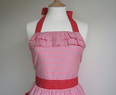 Ruffled bodice looks cute with the stripes - Etsy.