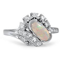 $2,680 14K White Gold The Devorah Ring from Brilliant Earth; gorgeous! I love opal