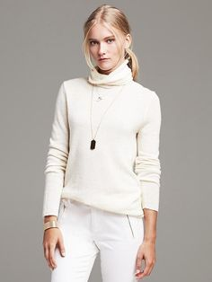 Winter White | Turtleneck Sweater