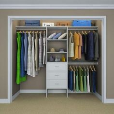 ClosetMaid Selectives 83 in. H x 120 in. W x 14.57 in. D Basic Plus Closet System in White-27029 - The Home Depot