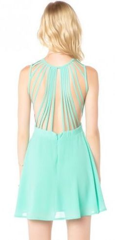 Mint Cage Dress <3 Love the Back!