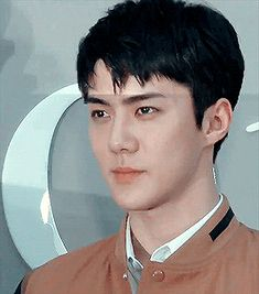 "huntertainment: """"SEHUN at Dior Colors' exhibition opening "" "" Sehun, My Youth, Ikon, Dream Catcher, Handsome, Rainbow Hair, Bae, Gifs, Wattpad"
