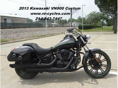 Browse Used #Kawasaki 2013 Vn900 #Cruiser_Motorcycle available for sale by Re-Cycle Sales for $ 6195 in Dallas, TX, USA. This is really nice 2013 Vulcan Custom 900. 2,750 miles. Bad to the bone. Excellent condition in every respect. Agile and powerful. Fuel injected, water cooled, and belt driven. Clean clear title on all of our bikes. If you wnat see more information about this bike, then click to log on at: http://goo.gl/t6R05i