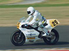 Andy Leuthe en el GP. Gran Bretaña 1990 (Donington Park) Honda 500