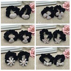 Casualfashion 6Pcs Lovely Lady Girls Velvet Hair Ropes Elastic Ponytail Holder Hair Ties Rubber Band * Check out this great product.(This is an Amazon affiliate link and I receive a commission for the sales)