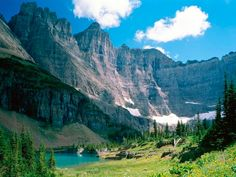 Waterton Lakes National Park (Alberta, Canada) was combined with the Glacier National Park (Montana, United States) to form the world's first International Peace Park.