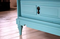 How To: 7 Easy Steps to Refinishing Old Furniture Without Sanding Using Eco-Friendly Chalk Paint  | Before & After: Old Dresser to Media Center