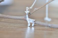 Origami Giraffe Necklace
