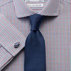 Upton multi check non-iron spread collar slim fit shirt | Men's dress shirts from Charles Tyrwhitt | CTShirts.com