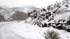 Nieve en la Cuesta de Miranda, Ruta 40 en La Rioja
