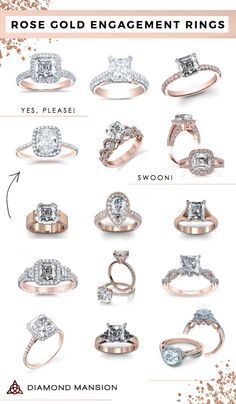 Rose Gold Engagement Rings | Diamond Mansion I cant decide if I like this or not...maybe but kind of partial to white gold.