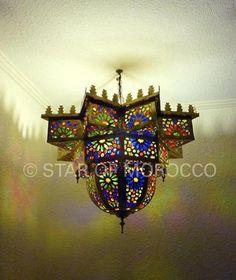 Star of Morocco Brass Chandelier