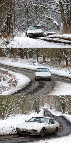 Porsche 924 auto-x snow Porsche 924s, Turbo S, Vintage Cars, Beautiful Things, Racing, Snow, Vehicles, Board, Outdoor