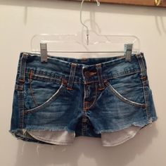 True Religion special edition denim shorts True Religion special edition jean shorts (women's size 24/0), super cute and rare design, just need a size smaller so I'm selling them. Feel free to make an offer! Will possibly trade for Free People items True Religion Shorts