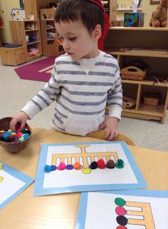 Color matching. Perfect for 2's class. To add fine motor development use tweezers.