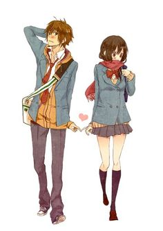 I wish all relationships where as cute as anime ones