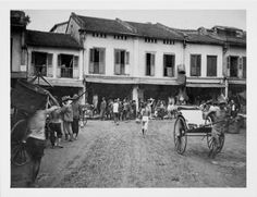Shop A Street In Singapore - 1907 Print created by TheDigitalConsultant. Poster Prints, Posters, Custom Framing, Singapore, Surface, Smooth, Photograph, Street View, History