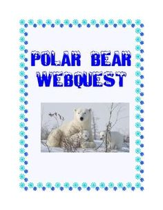 WebQuest -Polar Bears, Majestic Mammals This is a web search designed to give students factual information about polar bears as they read for information using the internet. During the search they use a variety of strategies and skills that will prepare them to do research. Supports CCSS.ELA-Literacy.RI.4.1-6.1 #readingnonfiction
