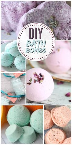 Learn how to make homemade DIY bath bombs just like the ones from Lush! They fizzle and smell awesome when you put them in water. These recipes are all super easy and perfect for beginners - even kids to make!