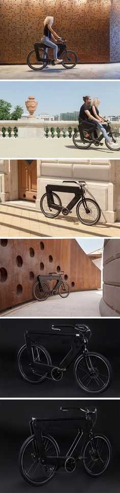 Don't be deceived by its seeming bulkiness, the REVO bike is actually composed of a minimal combination of 3D printed plastic, wooden and steel materials that arrive flat-packed and ready to put together! At the heart of the design is a frame featuring two like-sized wood sheets with an open center. Together, these sandwich the other components in a sensible order that make it intuitive and easy to put together in layers.