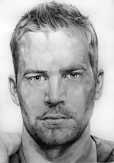 Paul Walker by Portrait Lc  https://www.facebook.com/PortraitLc  #art #drawing #Graphit #portrait #black #white