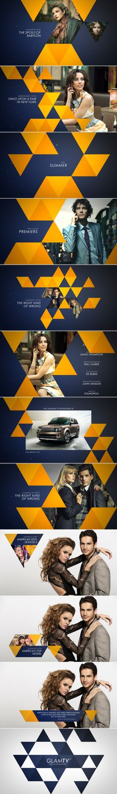 GLAM TV REBRANDING 2014 by Usman RAFI, via Behance