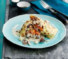 Filled with a tasty mushrooms and butternut squash that's nice and easy to whip up, these are a bit like a cheat's cannelloni.