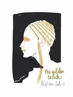 Beauty style from Alexander McQueen falla 2014 / Open Toe, fashion illustrated opentoeillustration.com