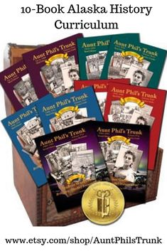 2018 Silver Medal Winner in Education Category from Literary Classics International  Save 10% for all five student workbooks and all five teacher guides for Aunt Phil's Trunk  Plus FREE Shipping  This package contains a student workbook and a teacher guide for each of the five books in my award-winning Aunt Phil's Trunk Alaska history series. Children from fourth grade up into high school can now have a lot of fun as they learn about Alaska's colorful past.
