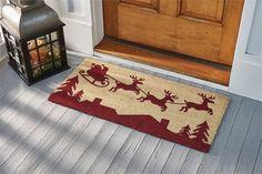 Here Comes Santa Door Mat