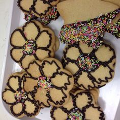Treat for the kids this holiday with chocolate dipped biscuits topped with sprinkles 50p #biscuits #homemade #fresh #cakeshop #bakery #mad4cakes