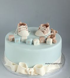 Gateau Baby Shower, Baby Shower Sweets, Baby Shower Cakes For Boys, Baby Boy Cakes, Baby Shower Fun, Christening Cake Boy, Teddy Bear Cakes, Pastry Art, Cute Cakes